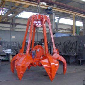 Mechanical orange peel grab
